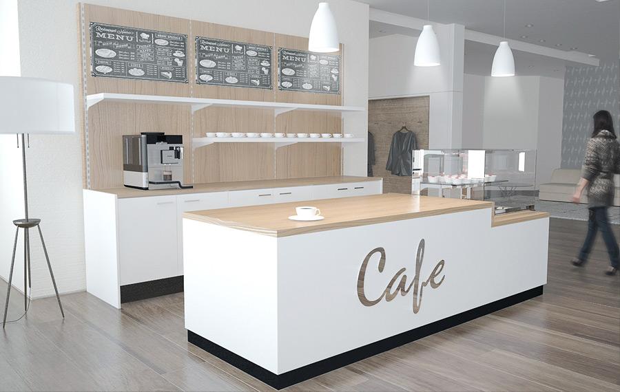Cafeeinrichtung-Cafe-Möbel-Cafe-Theke
