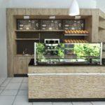 Bäckerei Einrichtung mit Steinfront 03